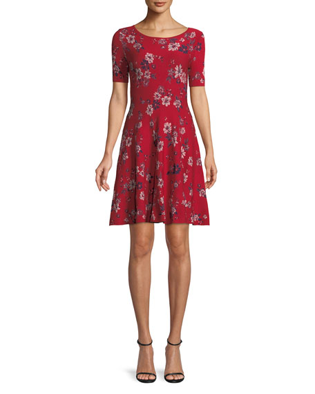 Twilight Floral-Print Fit-and-Flare Dress