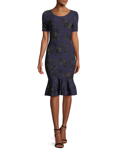 1790b4d4379 Twilight Floral Mermaid Dress Quick Look. Milly