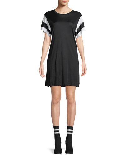 Penny Crewneck Short-Sleeve Jersey Dress