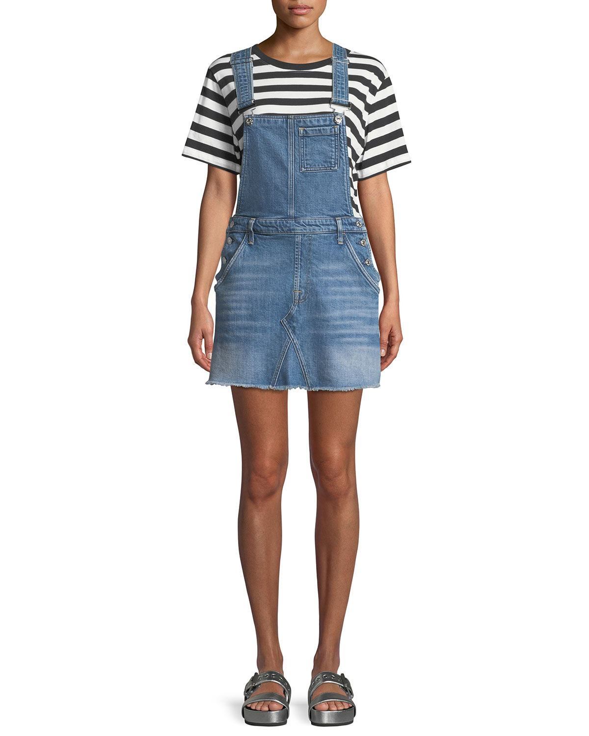 diverse styles 60% discount classic shoes Mini Skirt Denim Overall Dress