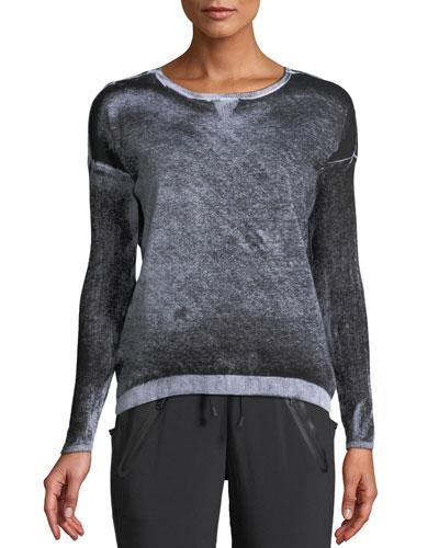 Boyfriend Crewneck Long-Sleeve Pullover Sweater
