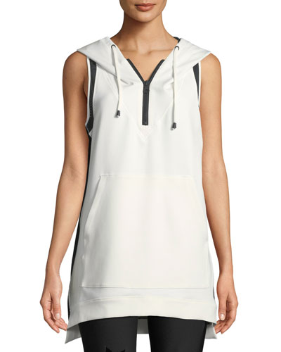Cocoon Hooded Mesh Pullover Vest