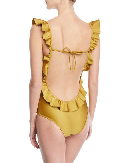 Cheap With Mastercard Jaya V-neck flounce swimsuit Zimmermann Discount 2018 Pick A Best For Sale mki0zNy