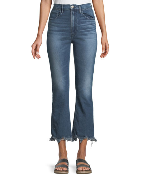 3x1 Jeans W5 EMPIRE CROPPED BELL-BOTTOM JEANS