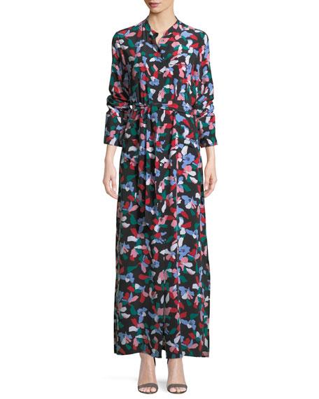 Britten Floral-Print Silk Maxi Dress