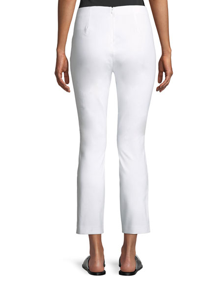Simone Cropped Side-Snap Pants