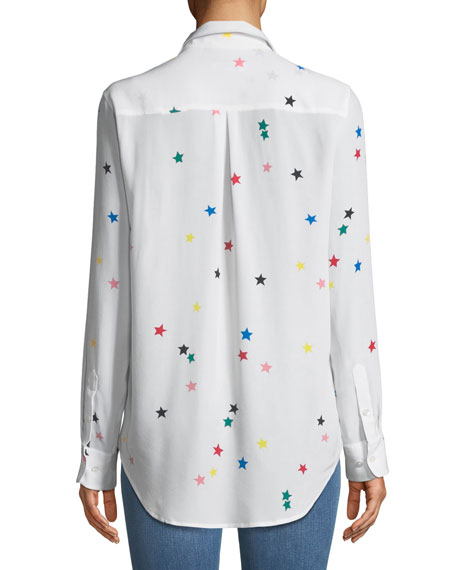 Essential Star-Print Silk Shirt