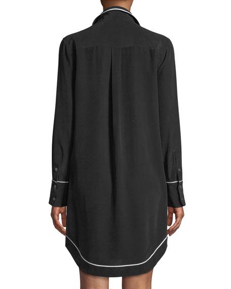 Felix Contrast-Piping Silk Dress