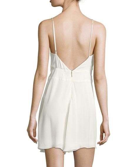 Cassidy Sleeveless Silk Mini Dress