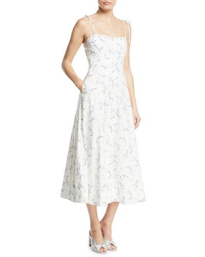 Francine Floral Poplin Tank Dress