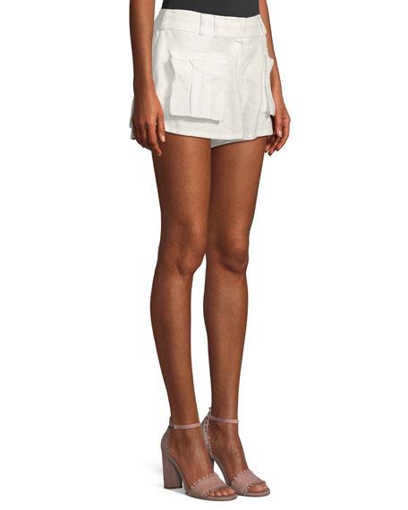 Golden Linen Skater Shorts
