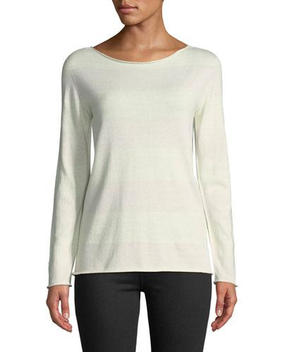 Cashmere-Blend Bateau-Neck Sweater