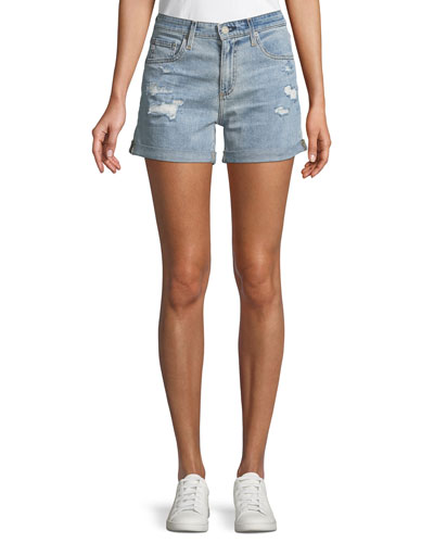 Hailey Ex-Boyfriend Distressed Denim Shorts