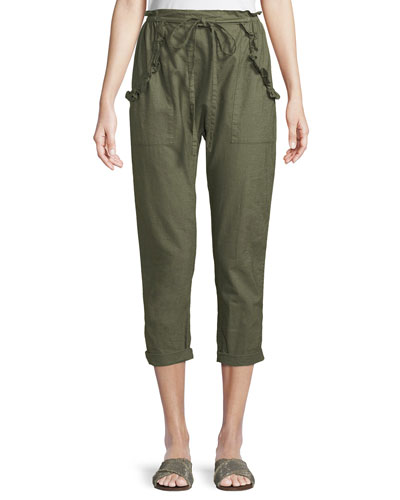 The Tulip Linen-Cotton Cropped Pants