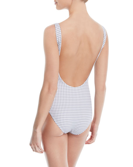 Kelly Checked One-Piece Swimsuit