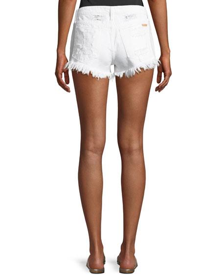 0c0ca37c40 Joe's Jeans Mid-Rise Distressed Denim Cutoff Shorts