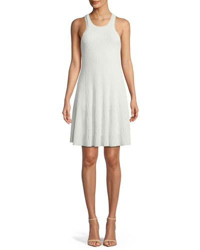 Clean Cotton Ottoman Knit Knee-Length Tank Dress