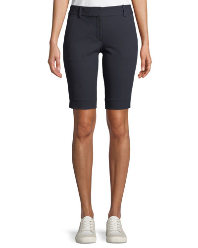 Basic Pull-On Approach Twill Bermuda Shorts