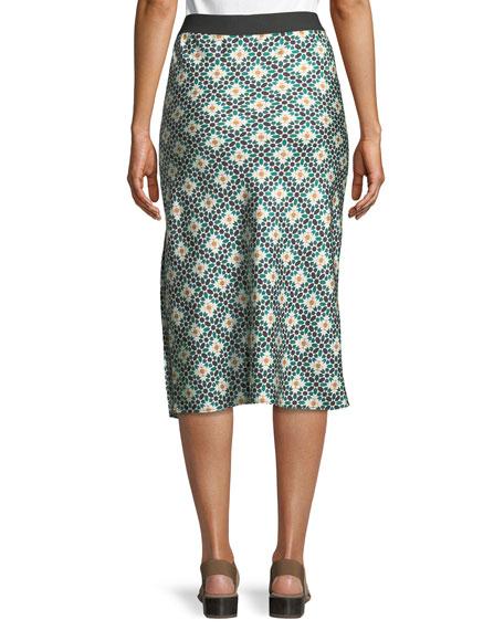 Printed Silk Knee-Length Slip Skirt