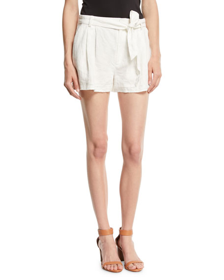 Jaklynn Pleated Linen Shorts