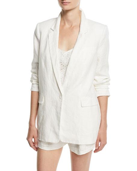 Kishina One-Button Linen Blazer