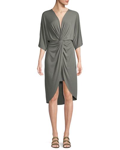 Sorina Twist-Front High-Low Dress