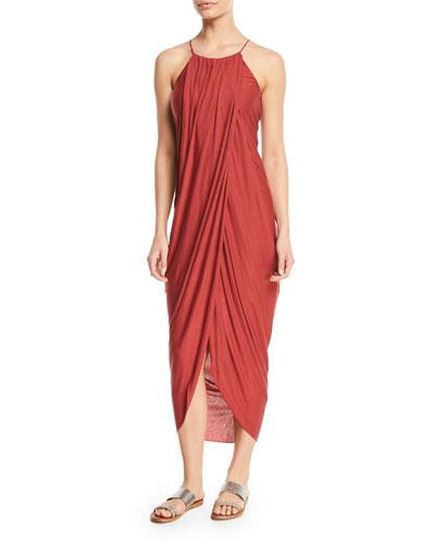 Serlina Draped Sleeveless Maxi Dress