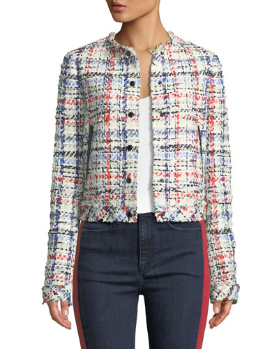 Otis Snap-Front Linton Tweed Jacket