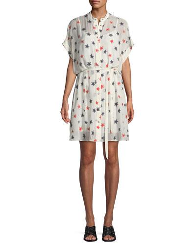 Lary Star-Print Shirtdress
