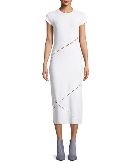 Eden Slashed Midi T-Body Dress