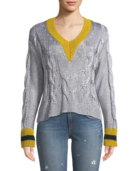 Emma Cropped V Neck Sweater by Rag & Bone