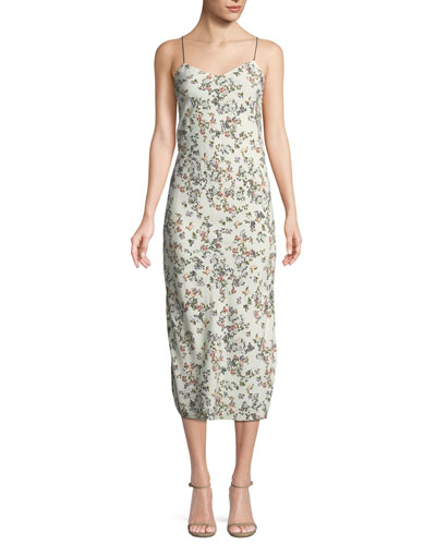 Astrid Floral-Print Viscose Slip Dress