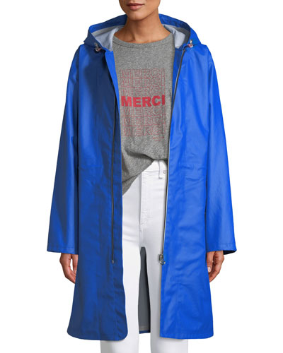 Kenna Classic Zip-Front Raincoat