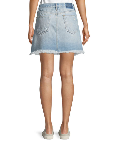 Rigid Re-Release Le High Frayed Mini Skirt