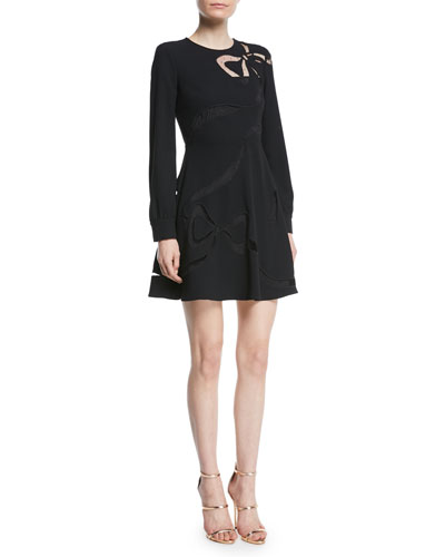 Sable Dress with Cutout Bow Details