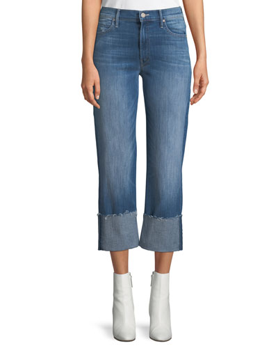 Dutchie Cuffed Wide-Leg Jeans