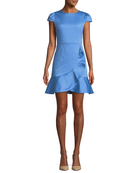 Kirby Short-Sleeve Ruffle Mini Dress
