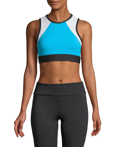 Swell Mesh Colorblock Crop Tank
