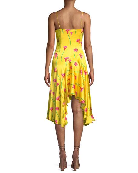 Marie Floral-Print Asymmetric Slip Dress