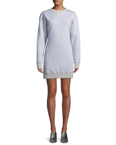 Easy Open-Back Crewneck Sweatshirt Dress