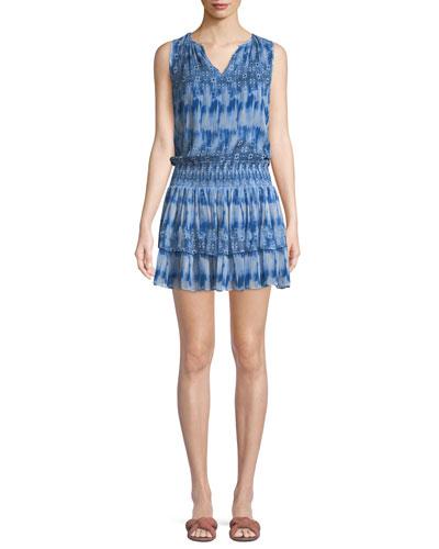 Jordana Printed Sleeveless Mini Dress Quick Look. Ramy Brook