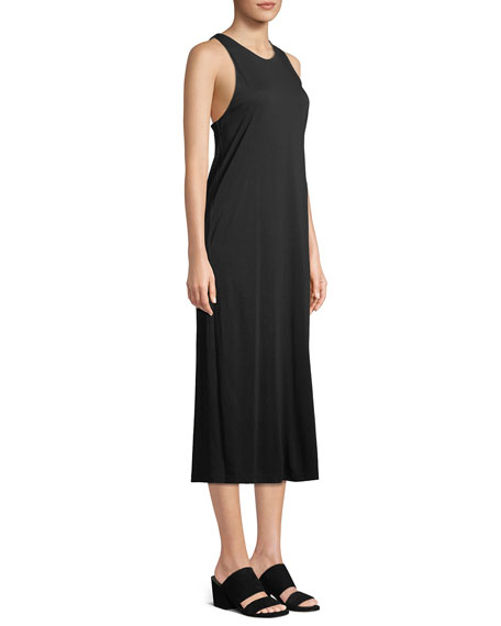 Twist-Back Midi Tank Dress