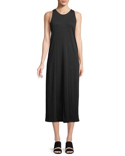 Twist-Back Midi Tank Dress