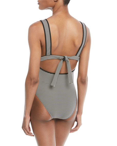 Nassau Striped Maillot Swimsuit