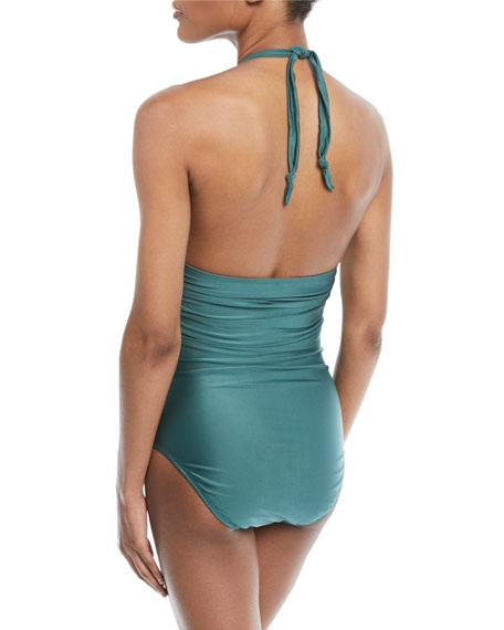 Bia Tube One-Piece Swimsuit, Jasper