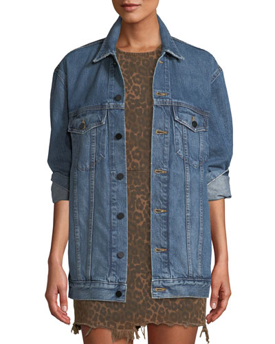 Daze Button-Front Denim Jacket