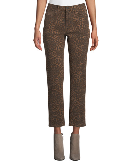 Cult Cropped Leopard-Print Jeans