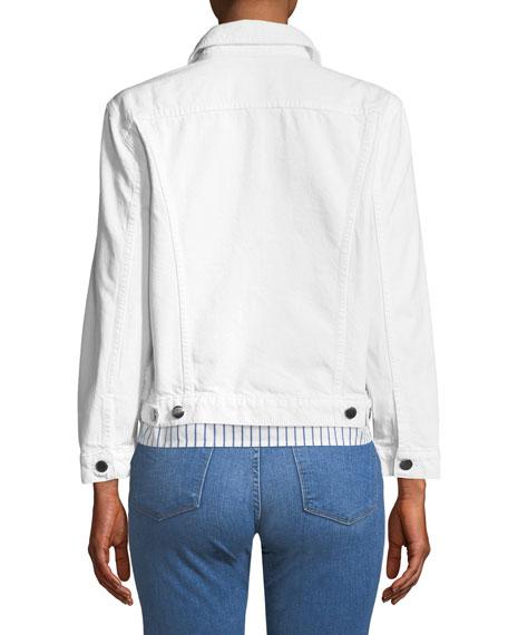 Rigid Re-Release Button-Front Denim Jacket