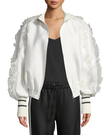 Maggie Marilyn SOME KIND OF WONDERFUL RUFFLE BOMBER JACKET
