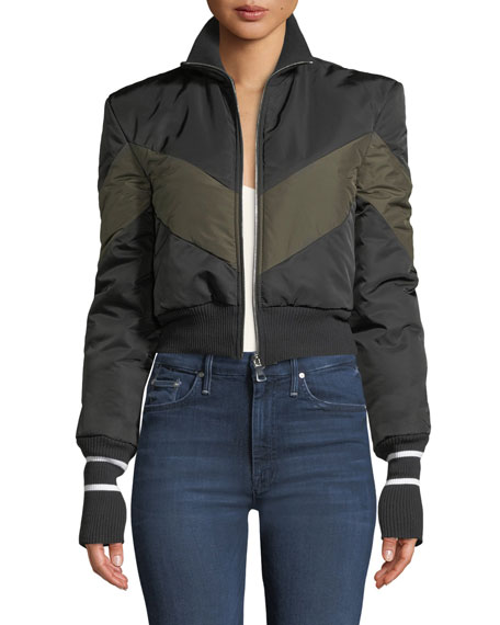 Maggie Marilyn CONQUER YOUR FEARS CROPPED PUFFER JACKET